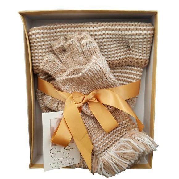 Jessica Simpson Accessories - Jessica Simpson Knit Beanie Hat and Glove Set